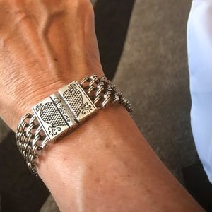Brighton chain bracelet with heart design